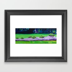 Turtle Walk Framed Art Print