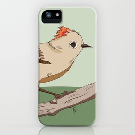 Ruby Crowned Kinglet iPhone Case