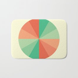 The Coral-Mint Wheel Bath Mat