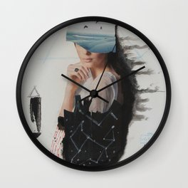 sea,costellation,tree Wall Clock