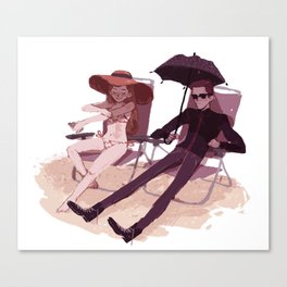 Hades and Persephone at the beach Canvas Print