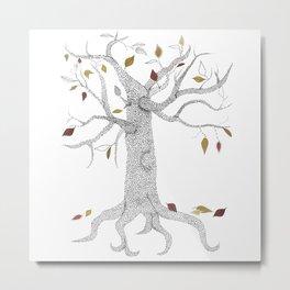 Seasons Tree Metal Print