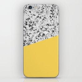 Granite and Primrose Yellow Color iPhone Skin