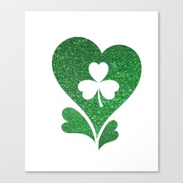 Flag Love St Patrick's Day Canvas Print