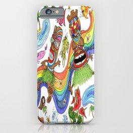 Hawaiian Tiki Play Date iPhone Case