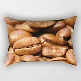 Roasted coffee beans macro Rectangular Pillow