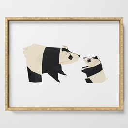 Origami Giant Panda Serving Tray