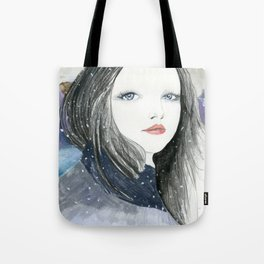 Embracing A Misty Morning Tote Bag