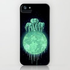 elephants on moon (variant) mint iPhone (5, 5s) Slim Case