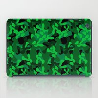 camouflage iPad Cases featuring Camouflage (Green) by 10813 Apparel