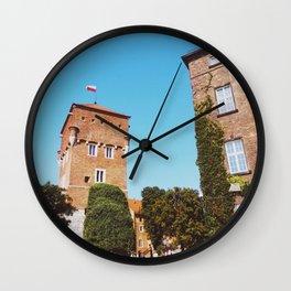 Summer in Krakow Wall Clock