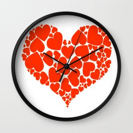 A Heart Full Of Love Red Valentine Hearts Within A Heart Wall Clock