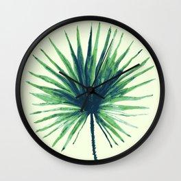 Palm Leaf - Fan Wall Clock
