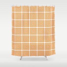 Orange Squares Shower Curtain