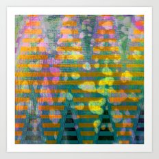 zig zag 2 Art Print