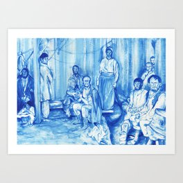The jester and other Peasants Art Print
