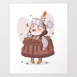 Cake Opal Art Print