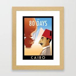 80 Days : Cairo Framed Art Print