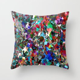 Red Dot Party Throw Pillow