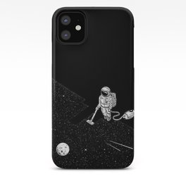 cleaning the space iPhone Case