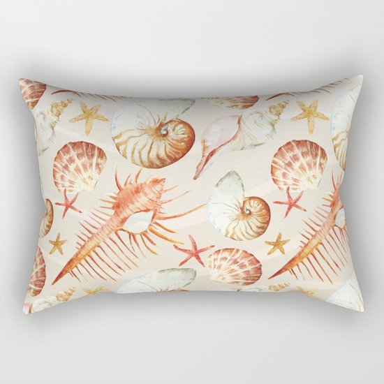 Marine Pattern 06 Rectangular Pillow