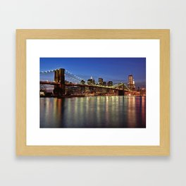 Brooklyn Bridge Framed Art Print