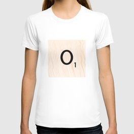 Scrabble Letter O - Large Scrabble Tiles T-shirt