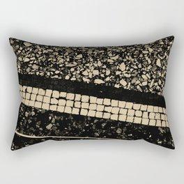 Terrazzo Pattern Black & Gold Sepia #1 #texture #decor #art #society6 Rectangular Pillow