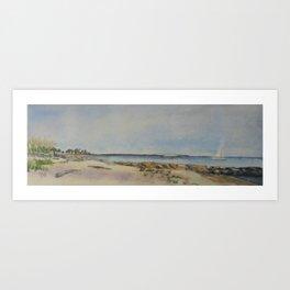 Seaside Beach View of Harkness Memorial Park Waterford CT Art Print
