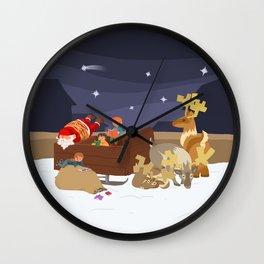 Kidnapping Santa Wall Clock