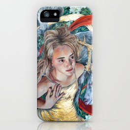 The Awakening, Goddess Artemis with Deer iPhone Case