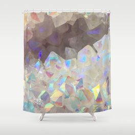 Iridescent Aura Crystals Shower Curtain