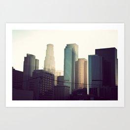 Downtown LA Art Print