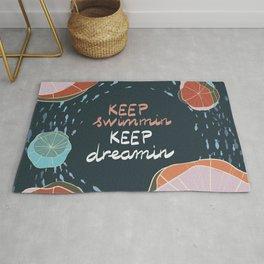 Keep swimmin keep dreamin Rug