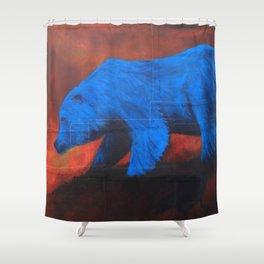 elusive blue Shower Curtain