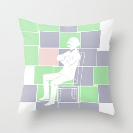 Think there and be square Throw Pillow