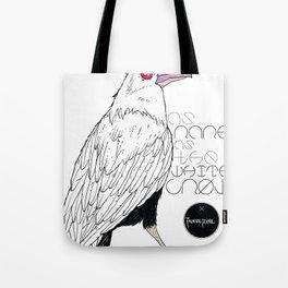 As Rare As the White Crow Tote Bag