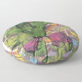 The Hulk Vintage Comic Art Floor Pillow