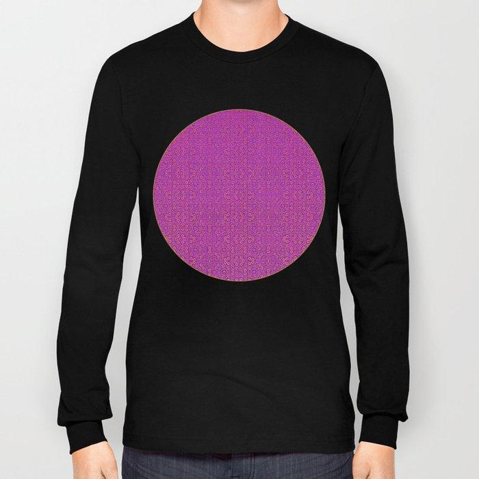 Magenta Tribal Pattern Long Sleeve T-shirt