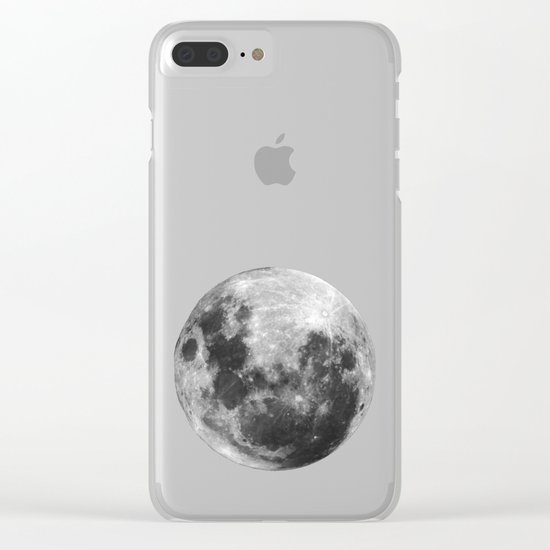 Moon Love Clear iPhone Case