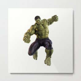 Green Hulk Metal Print