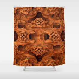 Erosion (Sandstone) Shower Curtain