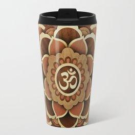 Patience and lucky of harmony mandala from wood handmade marquetry Travel Mug
