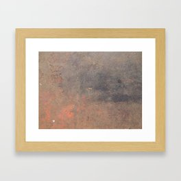 The texture of the metal sheet and coating Framed Art Print