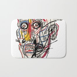 Basquiat Crazy Head Bath Mat