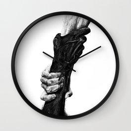 Pulling (b&w) Wall Clock