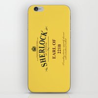 221b iPhone & iPod Skins featuring Earl of 221B by Barn Bocock