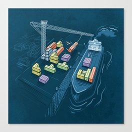 Game Port Canvas Print