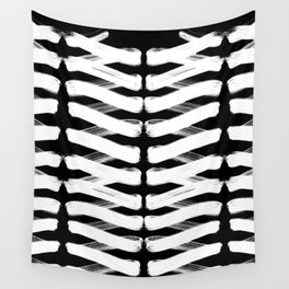 Zigzag white Wall Tapestry