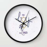snape Wall Clocks featuring the boy ... by Earthlightened